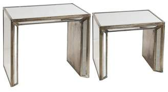 A&B Home Waverly Mirrored Nested Side Tables, Set of 2