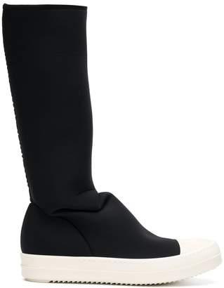 Rick Owens tall scuba sneaker boots