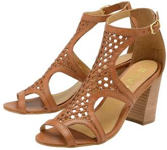 Ravel Womens Mid Heel Leather Sandals - Brown