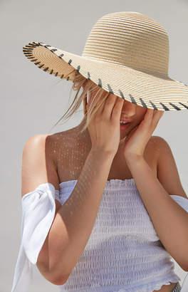 La Hearts Whipstitch Straw Hat