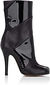 Maison Margiela Women's Tabi Leather Mid-Calf Boots - Black