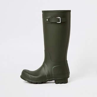 14c61a98c55 River Island Hunter Original green tall rubber boots