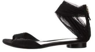 Fendi Mesh Flat Sandal Black Mesh Flat Sandal