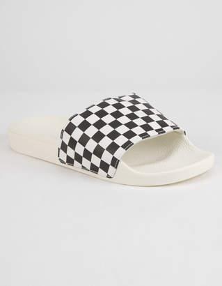 Vans Checkered Black & White Womens Slide Sandals