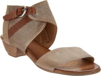 Miz Mooz Leather Buckle Sandals - Cheerful
