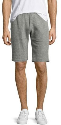 Theory Rumor S Axis Terry Jogger Shorts, Charcoal $165 thestylecure.com
