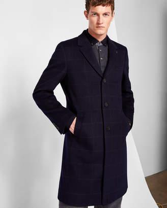 Ted Baker BRANING Windowpane check wool-blend overcoat