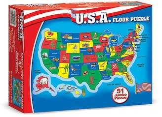 USA Map Floor Puzzle - 51 Pieces