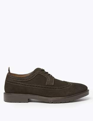 Marks and Spencer Oily Suede Heavyweight Brogues