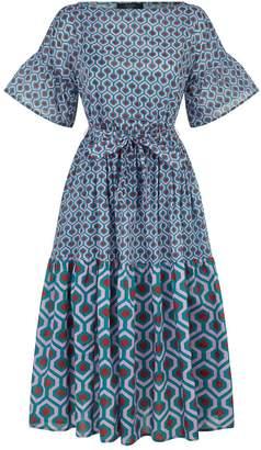 Max Mara Geometric Tiered Dress