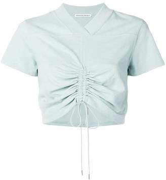 Alexander Wang high twist ruched cropped T-shirt