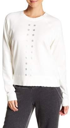 Nanette Lepore Graphic Raglan Sleeve Pullover Sweater