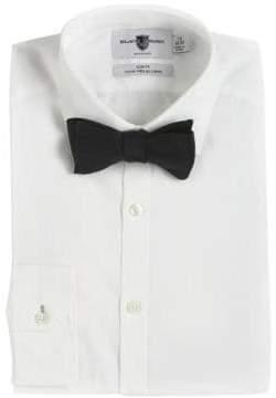 Black & Brown Black Brown Adjustable Silk Bow Tie