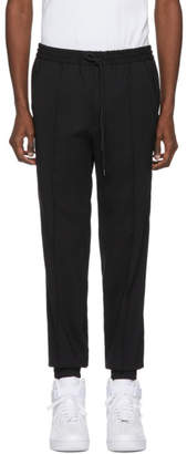 Juun.J Black Seamed Drawstring Trousers