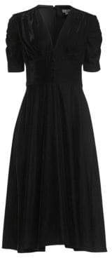 Shoshanna Lakewood Velvet A-Line Dress