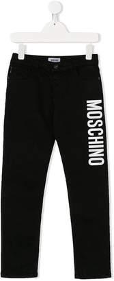 Moschino Kids printed logo jeans