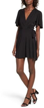Women's Privacy Please Brisco Wrap Minidress $138 thestylecure.com