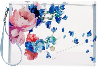 Ted Baker Raspberry Ripple Clear Envelope Pouch