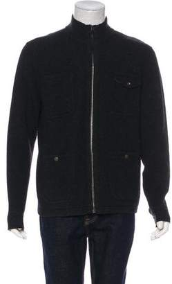Rag & Bone Knit Wool Zip-Up Jacket