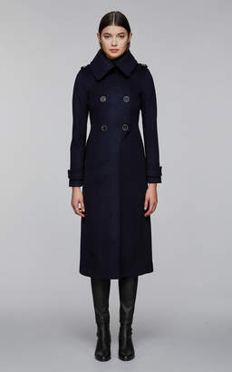Mackage ELODIE military wool coat with funnel collar
