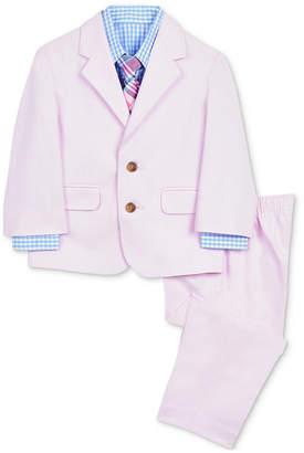 Nautica (ノーティカ) - Nautica Baby Boys 4-Pc. Suit Jacket, Shirt, Pants & Plaid Necktie Set