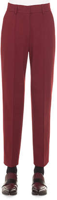 Akris Punto Ferry High-Waist Straight-Leg Cropped Jersey Pants