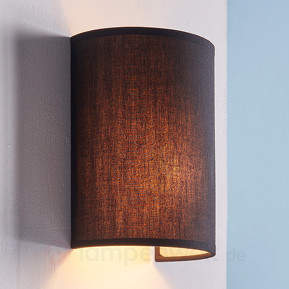 Annalisa - halbrunde Textilwandlampe in Schwarz