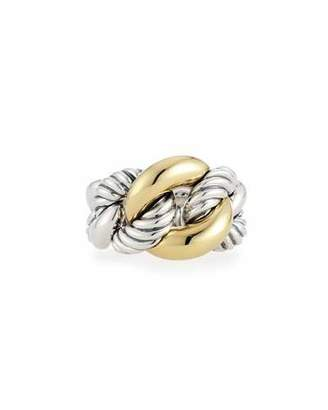 David Yurman Belmont Curb Link Ring with 18k Gold $695 thestylecure.com