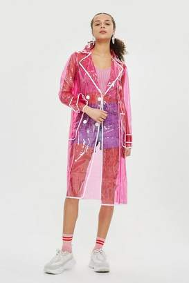 Topshop Clear vinyl trench coat