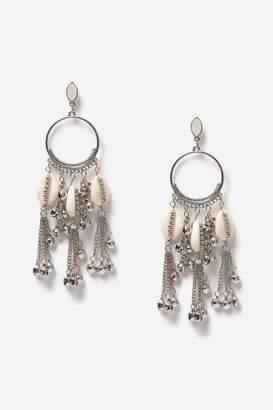 Topshop Hoop and Shell Earrings