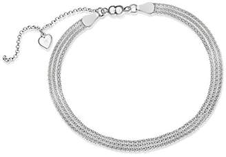At Co Uk Tuscany Silver Sterling 3strand Popcorn And Magnet Clasp Bracelet Of 19cm 7 5