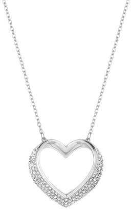 Swarovski If Cupid On Pave Crystal Open Heart Pendant Necklace