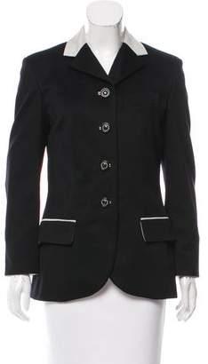 Hermes Cashmere Notch-Lapel Jacket