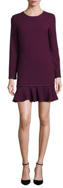 Shoshanna Ruffled Hem Long Sleeve Dress $360 thestylecure.com