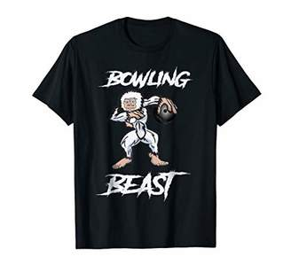 Bowling Ball Beast Master Funny Red Gifts Tee T Shirt