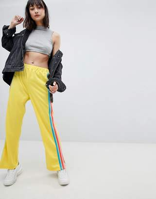 Asos Design DESIGN Trackpants with Rainbow Side Stripe and Vent Detail