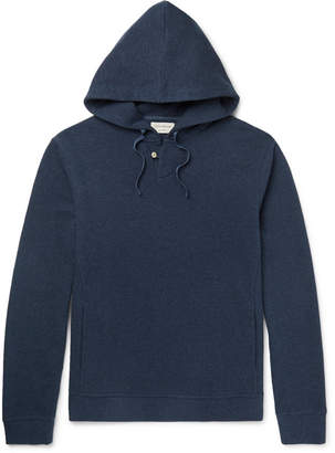 Oliver Spencer Loungewear - Textured-Cotton Hoodie