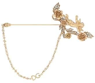 Dolce & Gabbana Crystal and brass brooch