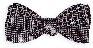 Barneys New York Men's Circle-Motif Silk Twill Bow Tie
