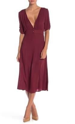 Anama V-Neck Midi Dress