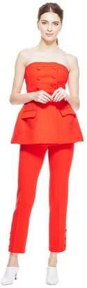 Lela Rose Peplum Strapless Top