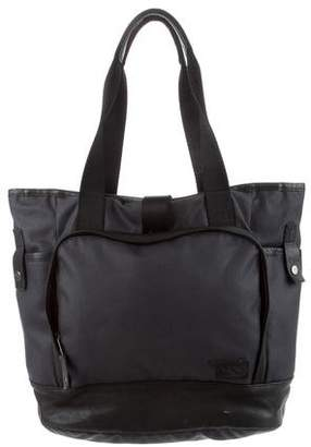 Y-3 Leather Trim Canvas Tote