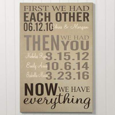 First Was Us Canvas Wall Art