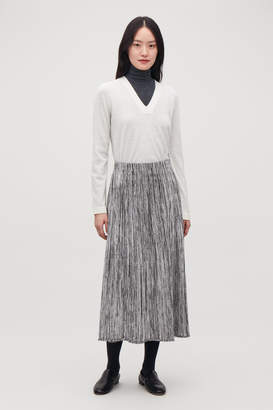 Cos MULTI-QUALITY A-LINE KNIT SKIRT