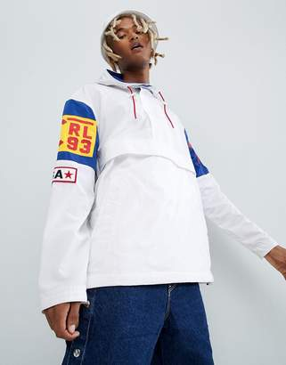 Polo Ralph Lauren Cp-93 Capsule Limited Edition Overhead Hooded Jacket Back Applique In White