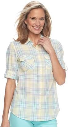 Croft & Barrow Women's Croft & Barrow?? Roll-Tab Woven Shirt