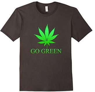 Go Green Weed T Shirt - Vape Nation - Marijuana Leaf 420