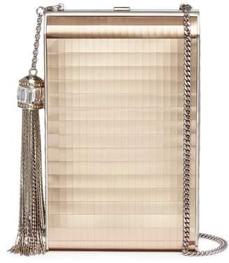Judith Leiber 'North South Rectangle' tassel metallic leather box clutch
