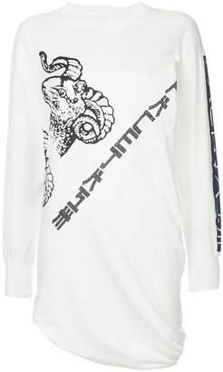 Facetasm logo print blouse