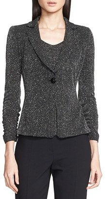Women's Armani Collezioni Glitter Jersey Jacket $1,325 thestylecure.com